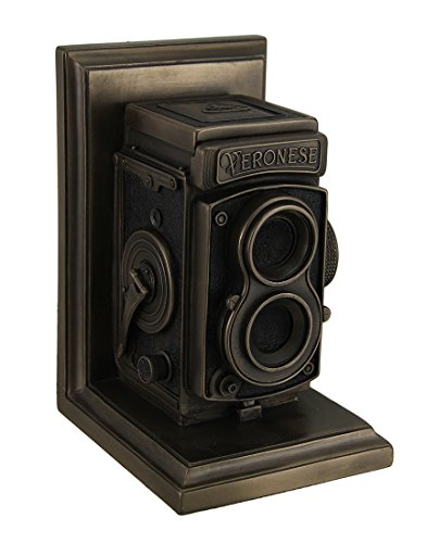 Resin Statues Vintage Tlr Camera Decorative Bronze Finish Single Bookend Statue 5 X 7 X 4.25 Inches Bronze Antique Bronze Bookends