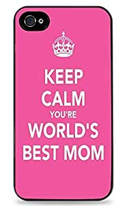 Keep Calm Your The Worlds Best Mom Black Silicone Case for iPhone 6 (4.7 inch) i6