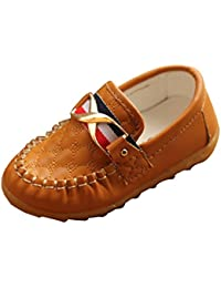Kid Baby Toddler Boy Moccasin Loafer Soft Leather Casual Oxford Boat Walking Slip-On Peas
