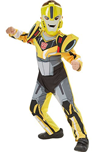 Transformers 3 Costumes (Deluxe Bumble Bee Transformers Robots in Disguise - Kids Costume 3 - 4 years)