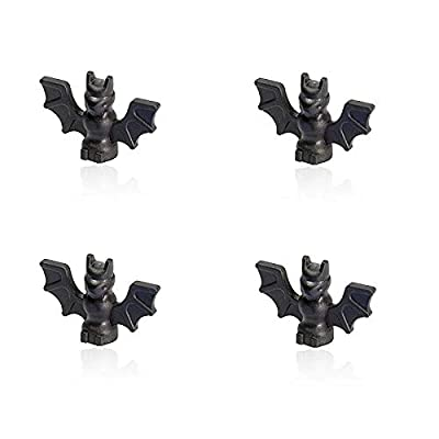 LEGO Halloween Minifigure - Black Bat Animal Accessory (Set of 4): Toys & Games