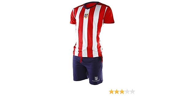 Pijama Atlético de Madrid adulto verano - M : Amazon.es ...
