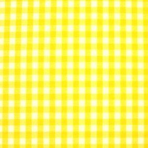 ギンガムチェック 生地 チェック 生地 ブロード 生地 (色 イエロー 黄色 黄) (チェックの大きさ:小・約3mm角) (50cmから注文可) (価格は10cmの価格)