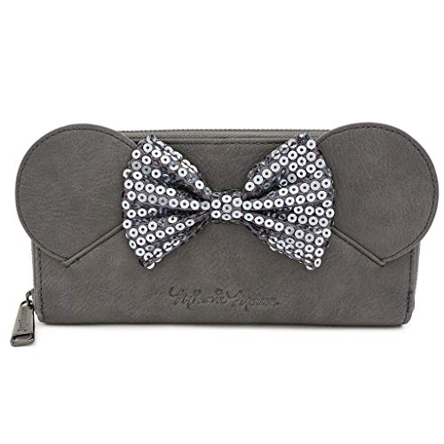 Loungefly Disney Minnie Mouse with Sequin Bow Zip Wallet
