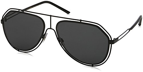 (Dolce & Gabbana Unisex DG2176 Black/Grey One Size)