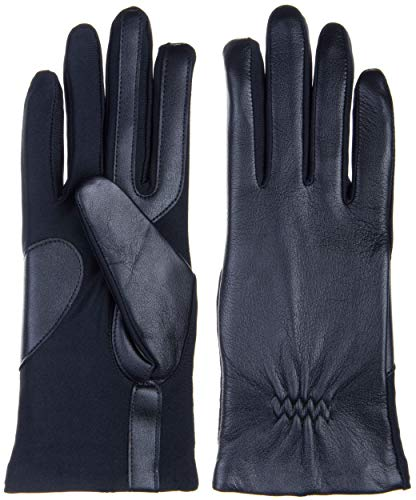 - Isotoner Womens Stretch Leather Glove - Fleece Black Small - Medium