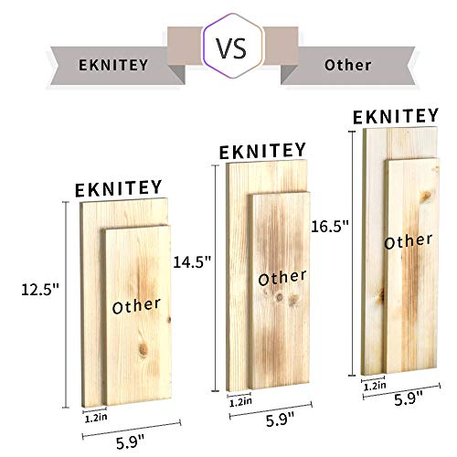 EKNITEY Floating Shelves Wall Mounted, Rustic Wood Wall Shelves Book Shelf Multipurpose Wall Storage Shelves Set of 3 Decor Display Shelves for Living Room/Bedroom/Bathroom/Kitchen (Carbonized Black)