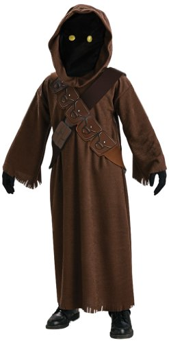 Star Wars Jawa Costume with Light Up Eyes - One Color - Large (Alien Child Mask)