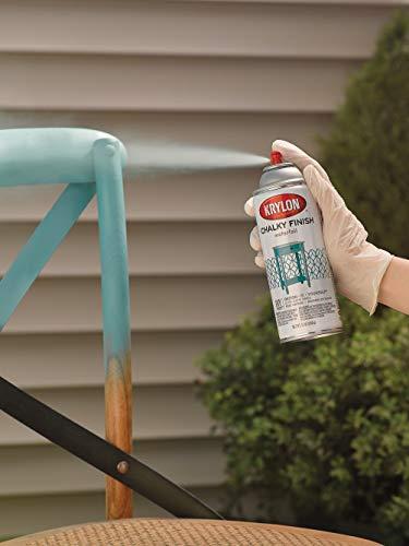 Krylon Chalky Finish Aerosol Spray Paint, 11 oz, Clear Matte
