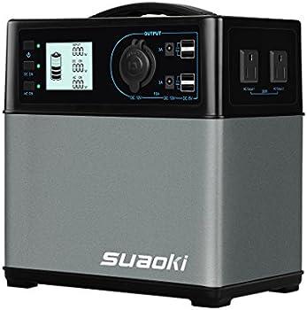 Suaoki 400Wh/120000mAh Portable Solar Generator Lithium ion Power Supply