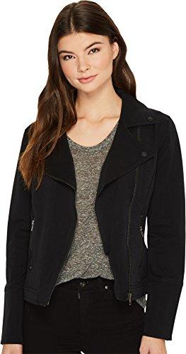 Liverpool Women's Moto Zip Jacket in Four-Way Stretch Comfort Twill Black Medium -