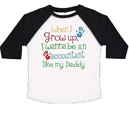 (inktastic - Accountant Like Daddy Toddler T-Shirt 3T White and Black)