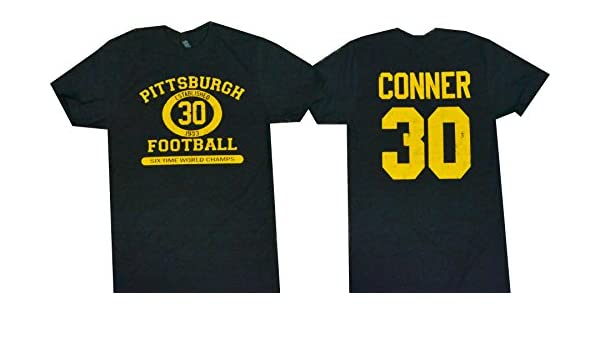 fb6b342c6 Amazon.com: James Conner Pittsburgh Football T-Shirt Soft Combed Cotton  Blend: Clothing
