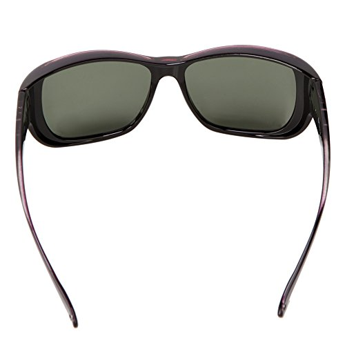 Freeprint Polarized Solar Shield Fit Over Glasses Driving Sunglasses for Men and Women,Purple by Freeprint (Image #5)