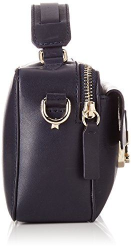 Tommy Hilfiger Fashion Hardware Leather Mini X Over, Bolso Bandolera para Mujer, 5x3x10 cm (W x H x L) Azul (Tommy Navy)