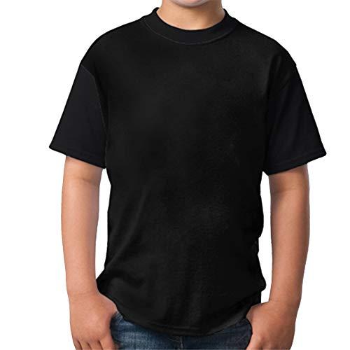 Monster Artwork Minimal In Dark Youth Boys Short Sleeve Crew Neck Tops Tshirts XL -