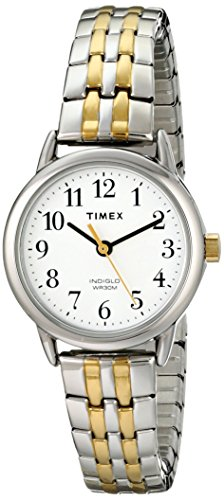 Timex Women's T2P298 Easy Reader Dress Two-Tone Stainless Steel Expansion Band Watch (Ladies Casual Expansion Band Watch)