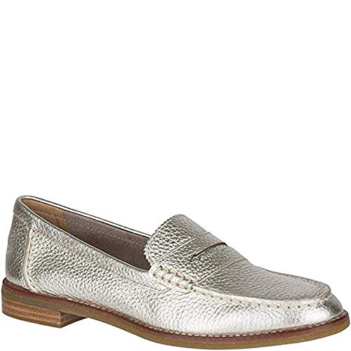 Sperry Top-Sider Seaport Penny Loafer Women 7 Platinum