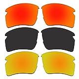 ACOMPATIBLE 3 Pair Replacement Polarized Lenses for Oakley Flak 2.0 XL Sunglasses Pack P7