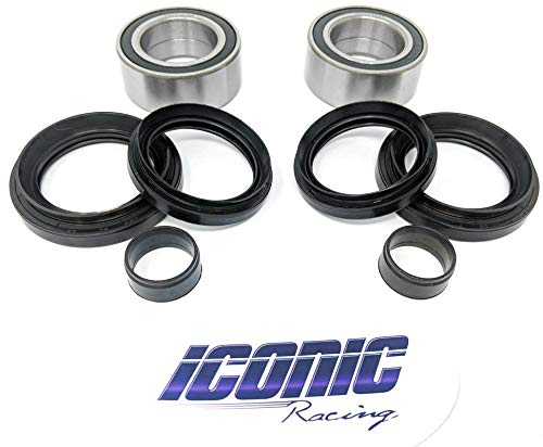 Both Wheels 4x4 Only Front Wheel Bearing and Seal Kits for 07-13 Iconic Racing Rancher 420 4x4 Fourtrax TRX420FA FE FM FPA FPE FPM