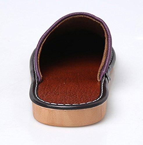 Ciabatte Da Donna In Pelle Cattior Comode Pantofole Da Esterno Viola