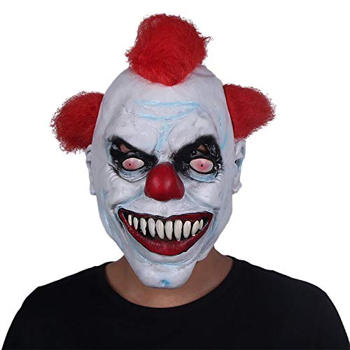 Nuoka Halloween Costume Scary Cosplay Latex Mask Horror Pennywise Clown Mask (Picture Color) -