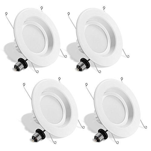 LVWIT LED 6'' Retrofit Dimmable Downlight 4000K Neutral White 1100 Lumens, 100W Equivalent 5 Year Warranty(4 Pack) by LVWIT
