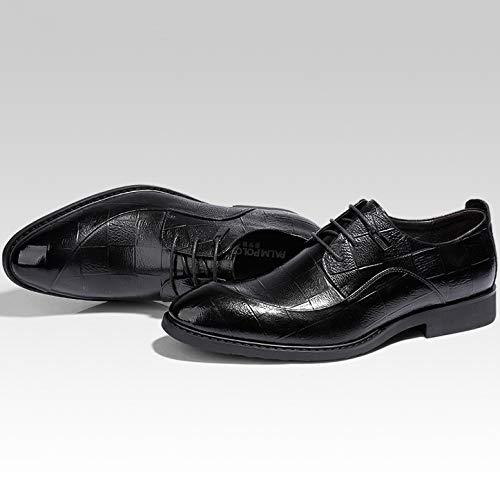 Bodas Cuero Zapatos Ropa Vestir Derby Noche Negocios Banquete Black On0Pkw