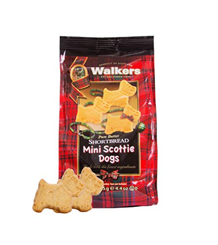 (Walkers Shortbread Mini Scottie Dogs, Traditional Pure Butter Shortbread Cookies, 4.4 Ounce Boxes (6 Bags))