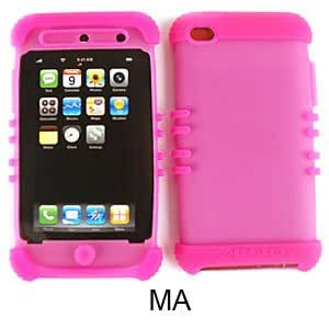 Unlimited Cellular ITOUCH4-RSKIN-MA Rocker Series Skin Case, Apple iPod Touch - Hot Pink