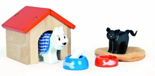 Le Toy Van Wooden Pet Set for Dollhouse People, Baby & Kids Zone