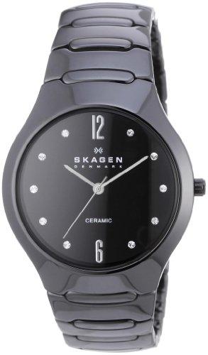 Skagen Women's SK817SBXBC Ceramic Black Dial Watch
