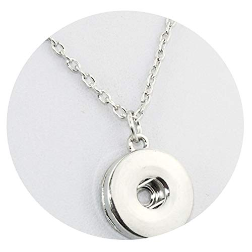 - Only Shopping Can Heal Me Snap Buttons Necklace Charms Beauty Pendant with Link Chain Fit DIY 18MM Snap Buttons Jewelry