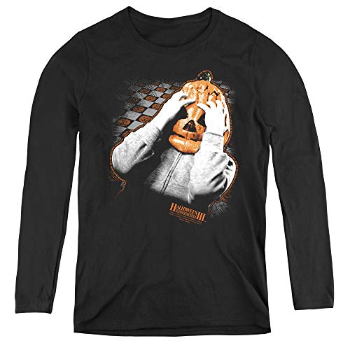 Halloween Iii Pumpkin Mask Adult Long Sleeve T-Shirt for Women, Large -