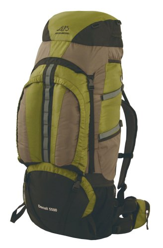 ALPS Mountaineering Denali Internal Backpack (Olive, 5500 Cubic Inch), Outdoor Stuffs