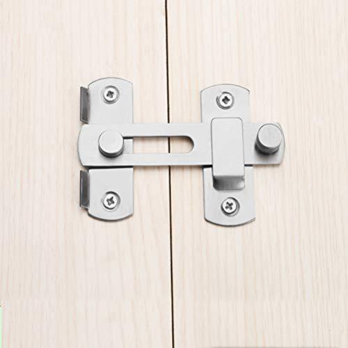 Cerradura de cerrojo Cerradura de cerrojo de acero inoxidable Cerrojo Cerradura de puerta corredera para gabinete de ventana...