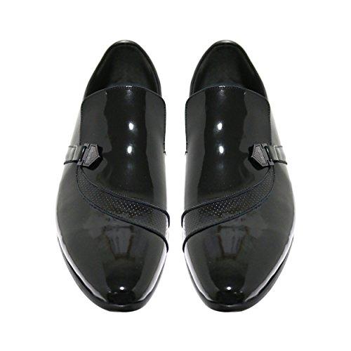 Robelli Herren schwarz Echtleder Schuhe - Seasonal Range LU809-2 Patent