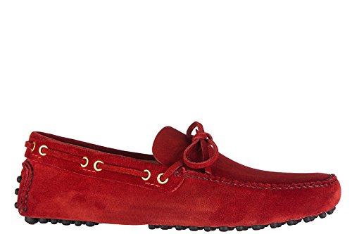 Car Shoe Wildleder Mokassins Herren Slipper Wildleder 8 Rot