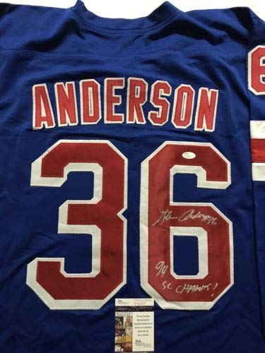 Autographed/Signed Glenn Anderson
