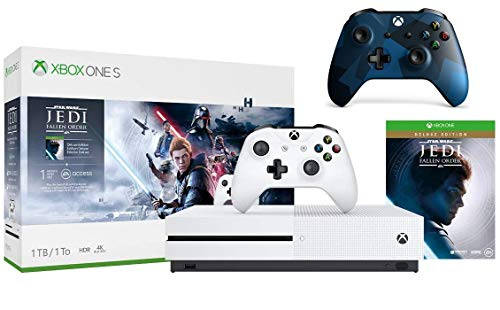 Microsoft Xbox One S 1TB Star Wars Jedi: Fallen Order Bundle + Midnight Forces II Special Edition Wireless Controller| Include:Xbox One S 1TB console ,Star Wars Jedi: Fallen Order, wireless controller