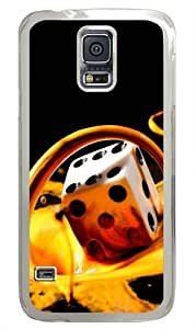 Milk Dice Custom Samsung Galaxy S5 Case and Cover - Polycarbonate - Transparent