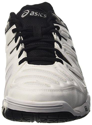 Asics Gel-Game 5, Zapatillas de Gimnasia para Hombre Bianco (White/Black/Silver)