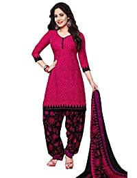 CRAFTSTRIBE Women Printed Suit Polyester Unstitched Salwar Kameez Dress Material for Party