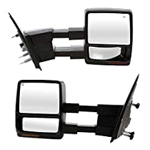Prime Choice Auto Parts KAPFO1320369PR Power Towing Puddle Heated Side Mirrors Set Pair With Signal