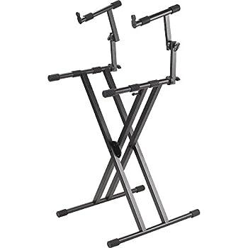 proline pl402 2 tier double x braced keyboard stand musical instruments. Black Bedroom Furniture Sets. Home Design Ideas
