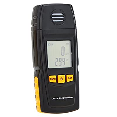 Handheld Carbon Monoxide Meter with High Precision CO Gas Tester Monitor Detector Gauge 0-1000ppm GM8805