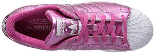 Adidas Originals Women's Superstar W, Pink,Pink,Ftwwht, 9.5 Medium US