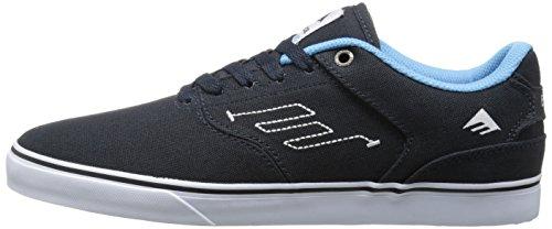Emerica el Reynolds bajo Vulc Azul Marino/Blanco/Dorado Zapatos