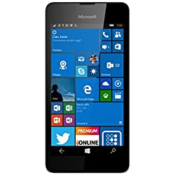 Microsoft Lumia 550 Smartphone LTE, Display 4.7' Pollici HD LCD (1280x720), 8 GB Memoria interna, Processore Quad Core Snapdragon 210, Bianco [Italia]