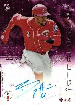 2014 Bowman Sterling Purple Refractor #BSRA-BH Billy Hamilton Certified Autograph Baseball Rookie Card - Only 99...